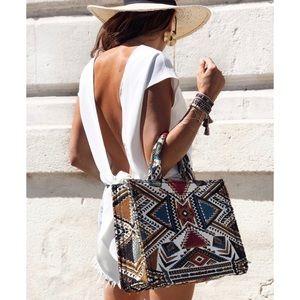 LAST ONE- NWOT Zara Geometrical Print Tote Bag